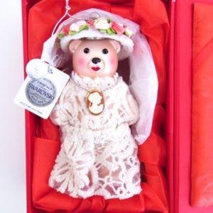 Swarovski Crystals Vintage Dress Bear Ornament